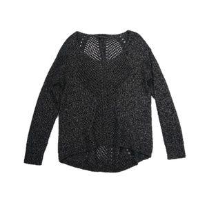 Rock & Republic black metallic sweater
